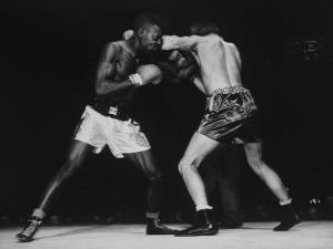 Boxers Competing in Golden Gloves Bout, 1940 by Gjon Mili