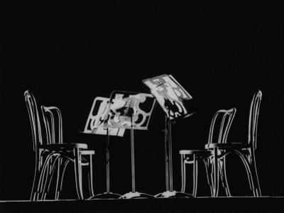 Chairs and Music Stands For the Budapest String Quartet by Gjon Mili