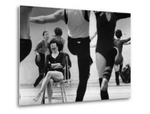 Choreographer Twyla Tharp Observing Rehearsal of American Ballet Theater Dancers by Gjon Mili