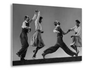 Composite: Leon James and Willa Mae Ricker Demonstrating Steps of the Lindy Hop by Gjon Mili