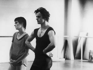 Dancer Mikhail Baryshnikov and Choreographer Twyla Tharp Resting during Rehearsal by Gjon Mili