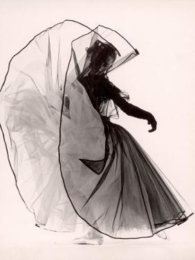 """Dancer Tanaquil Leclercq Performing """"La Valse"""" at Gjon Mili's Studio by Gjon Mili"""