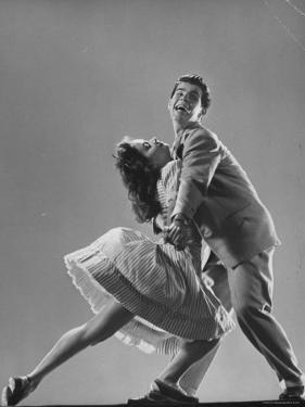Dancers Kaye Popp and Stanley Catron Demonstrating the Lindy Hop by Gjon Mili