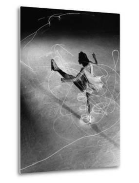 Figure Skater Carol Lynne with Flashlights Embedded in Her Skates by Gjon Mili