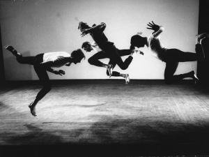 Four Male Members of the Limon Company Rehearsing by Gjon Mili