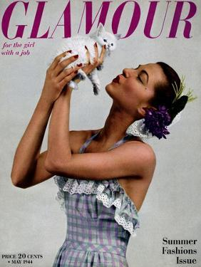 Glamour Cover - May 1944 by Gjon Mili