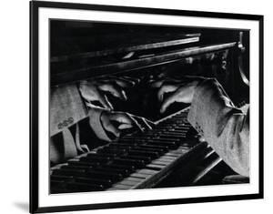 Hands of Jazz Pianist Eddie Heywood on Keyboard During Jam Session by Gjon Mili
