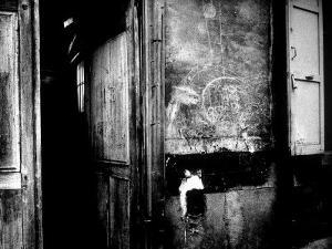 "Interior Hallway and Graffiti: ""Picasso Was Here,"" Bateau Lavoir, Montmartre by Gjon Mili"