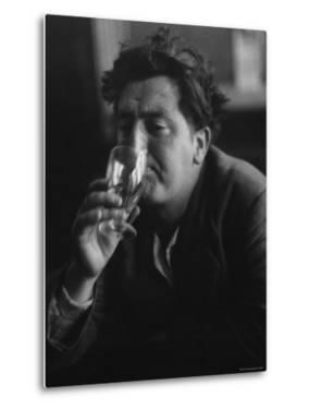 Irish Writer Brendan Behan, Embodiment of Ragged Poet Character in Many of Sean O'Casey's Plays by Gjon Mili
