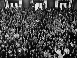MIT Graduating Class of 1956 by Gjon Mili