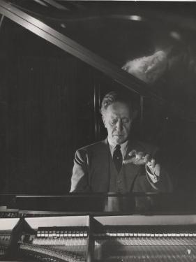 Pianist Arthur Rubenstein at the Piano by Gjon Mili