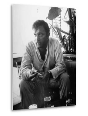 Richard Burton Relaxing in Cantina on Location by Gjon Mili