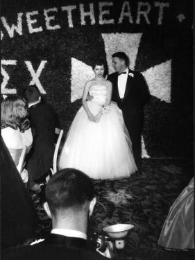 Sigma Chi Sweetheart Ball with Her Date, MIT Student Joel Searcy by Gjon Mili