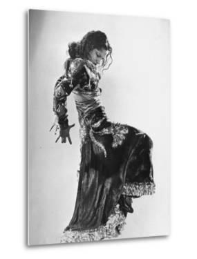Spanish Flamenco Dancer Carmen Amaya Performing by Gjon Mili