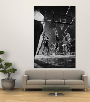 St. John's Defeating Bradley in a Basketball Game at Madison Square Garden by Gjon Mili