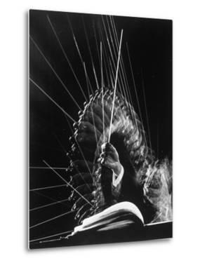 Stroboscopic Image of the Hands of Russian Conductor Efram Kurtz, While Conducting by Gjon Mili