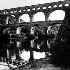 The Pont de Gard, Ancient Roman Aqueduct Bridging River Gard, Built by Romans in First Century BC by Gjon Mili