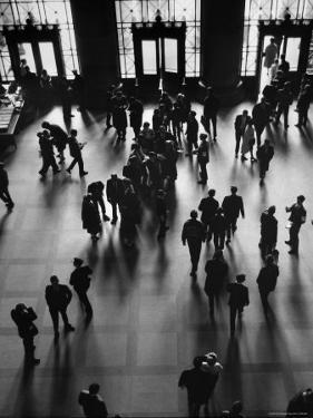View of Students and Others in Main Entrance at MIT on Visitors' Day by Gjon Mili