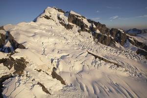 Glacier-Covered Mountain Peak