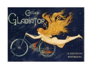 Gladiator Bicycles, Ca 1905, Advertising Poster, Paris. France, 20th Century