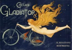 Gladiator Bicycles, Ca 1905, Advertising Poster, Paris. France, 20th Century