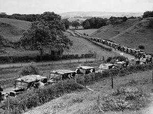 Glasgow Taxis Taking Children from Mearnskirk Hospital on Their Annual Outing to Troon, 1955
