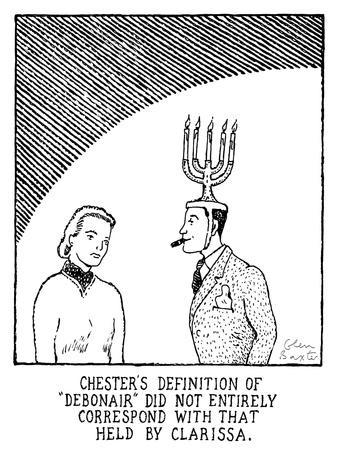 "Chester's Definition Of ""Debonair"" - New Yorker Cartoon"