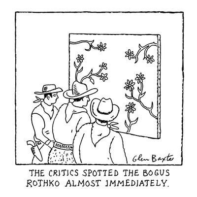 'The Critics Spotted the Bogus Rothko Almost Immediately' - New Yorker Cartoon