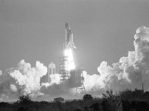 Challenger Liftoff 1984 by Glenda Dixon
