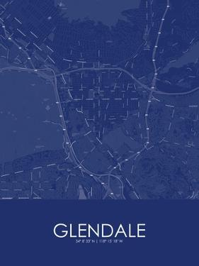 Glendale, United States of America Blue Map