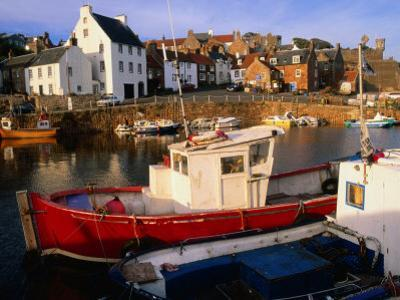 Boats in Crail Harbour Crail, Fife, Scotland by Glenn Beanland