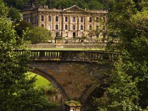 Bridge with Chatsworth House in the Background, Chatsworth, United Kingdom by Glenn Beanland
