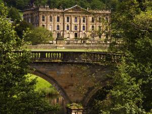 Bridge with Chatsworth House in the Background, Chatsworth, United Kingdom by Glenn Beanland