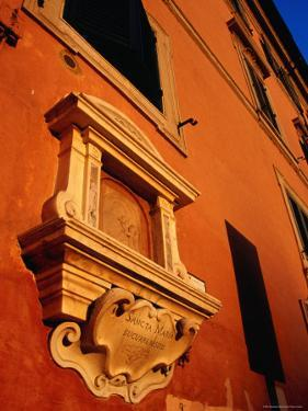 Late Afternoon Glow on Building in Trastevere, Rome, Italy by Glenn Beanland