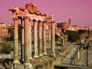 Roman Forum from Capitoline Hill by Glenn Beanland