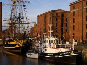 Ships Moored at the Mersey Maritime Museum, Albert Dock, Liverpool, England by Glenn Beanland