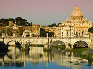 St Peter's Basilica from the Tiber River by Glenn Beanland