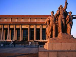 Statue Outside Chinese Revolution History Museum in Tiananmen Square Bejing, China by Glenn Beanland