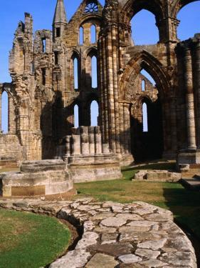 Stone Path Leading to Ruins of Whitby Abbey Whitby, England by Glenn Beanland