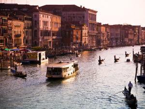 Vaporetto and Gondolas on the Grand Canal by Glenn Beanland