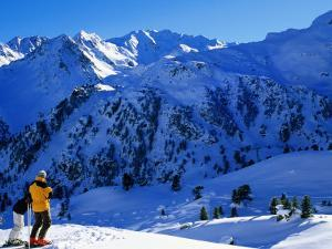 Skiers Above Tortin, Verbier, Valais, Switzerland by Glenn Van Der Knijff