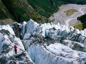 Walkers on Franz Josef Glacier, Franz Josef Glacier, New Zealand by Glenn Van Der Knijff
