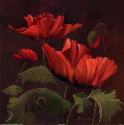 Vibrant Red Poppies II by Gloria Eriksen