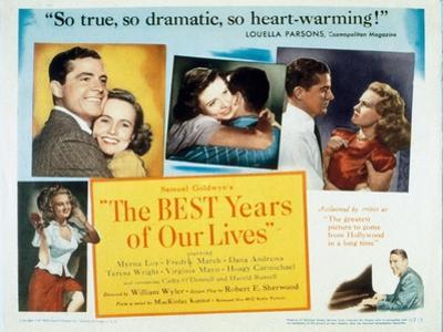 """Glory for Me, 1946, """"The Best Years of Our Lives"""" Directed by William Wyler"""