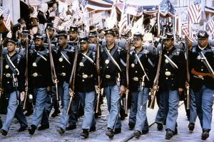 Glory (Pour la gloire) by EdwardZwick with Morgan Freeman, 1989 (guerre by Secession) (photo)