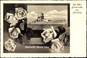 Glückwunsch Geburtstag, Panzerschiff Admiral Scheer