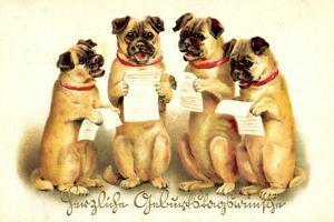 Glückwunsch Geburtstag, Vier Singende Hunde