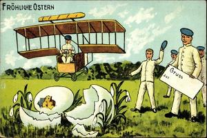 Glückwunsch Ostern, Küken Schlüpft, Flugzeug