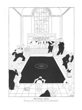 Industrial Crisis--The day a cake of soap sank at Procter & Gamble's. - New Yorker Cartoon by Gluyas Williams