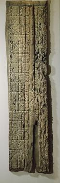 Glyphs on a Carved Wood Lintel from Temple IV at Tikal, Collected in 1877 by the Explorer Gustav…
